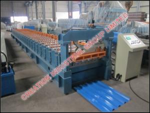 China Galvanised / Prepainted IBR Iron Roof Sheet Making Machine Automatic Working Type on sale
