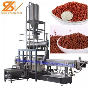China Aquatic Floating Fish Feed Pellet Machine Double Screw Extruder Craft on sale