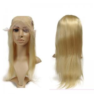 China Blonde Color Brazilian Human Hair Lace Front Wigs With Baby Hairline 10 Inch-30 Inch on sale