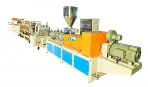 China Single Layer PVC Sheet Plastic Extrusion Line For Glazed Tile , Anti-Corrosion on sale