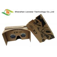 15*6.5*8.5cm Cardboard VR Glasses For Movies Video Game / 3.5-6.0 Inch Phone