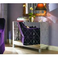 Fashion Dressing Mirrored Bedroom Side TablesMDF Glass Mirror Material