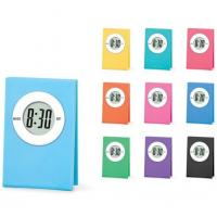 Colorful Mini Clip Gift  Promotional LCD Clock 5001