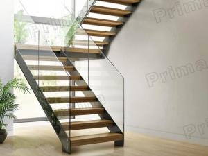 Glass Metal Straight Staircases Glass Stairs Metal