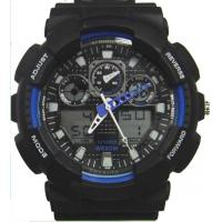 Multifunction EL Backlight Ana-digital Wristwatch Snooze Alarm