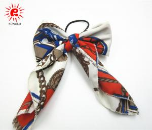 China Nylon Bowknot Shape Hair Scrunchies With Elastic Ring Pony Tail Holder on sale