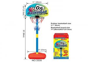 China Portable Plastic Children's Basketball Hoop Adjustable Sports Toys For Boys on sale