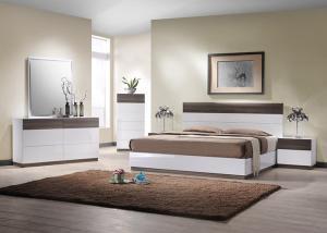 E1 Panel bedroom set / White High Gloss Bedroom Furniutre ...