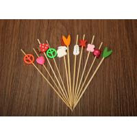 China Barbecue Decorative Bamboo Skewers , Bamboo Cocktail Sticks Eco Friendly on sale