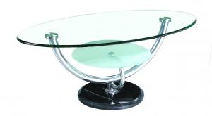 China tempered glass/ stainless steel legs  tea table A568 on sale