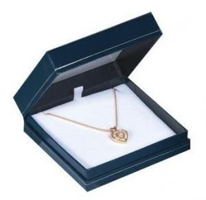 China Customized Paper / Card Board Pendant necklace jewellery boxes Square shape for women on sale