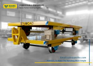 China Custom Heavy Duty Flatbed Trailer With Cast Steel Wheel For Industry on sale
