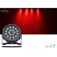 18 PCS 1W LED Par Can Stage Lights With Plastic Body / 35° Beam Angle