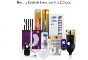 China Mink Eyelash Extension Storage Kit Set Tweezers Glue Mascara Brush Tape Packaging Form Cleanser Patches Wholesale on sale