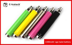 China Big Vapor E Cigar Colorful 1300mah ,Variable Voltage Electronic Cigarette Ego Twist on sale