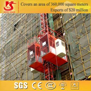 China Single Cage and Double Cages construction elevator equipment for buliding on sale