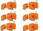 Bright Color Hard Shell Wheeled PP Suitcase Luggage Set Of 4 For Travelling