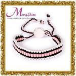 女性LS011のための流行のハンドメイドの調節つなぎの友情のブレスレットの宝石類