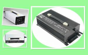 China Silver Or Black 50A 24V Smart Lithium Battery Charger Aluminum Enclosure on sale