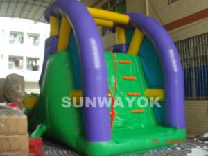 China Custom 0.55 mm PVC / plato TM Inflatable Water Slide With Climber for aqua park on sale