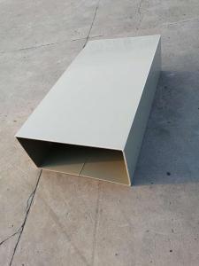 China Anti Corrosion Square Plastic Drain Pipe 2m / 4m / 5.8m / 11.8m Length on sale