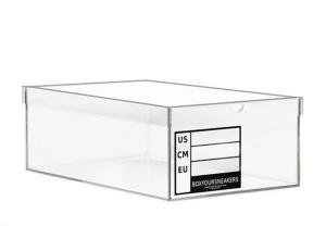 China Custom plexiglass shoe box ,clear acrylic shoe box with drawer on sale
