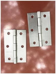 China Heavy Duty Iron Door Hinges Unpolished Treatment Customized Size Color on sale