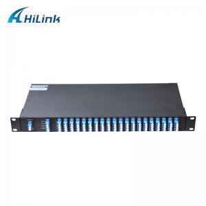 China Flat Top DWDM Multiplexer 1310nm OSC Port Monitor Port 1U Rack Mount 100GHz Duplex LC/UPC C21-C60 40CH on sale