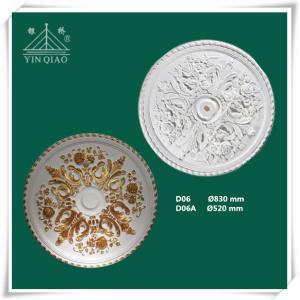 China Chinese manufacturer interior decorative gypsum plaster gesso ceiling rose on sale