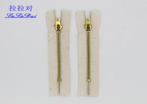 China Antique Copper Clothes Cotton Zipper Ykk Teeth 4.5 Yg Slider 8cm - 18cm Or Customized on sale