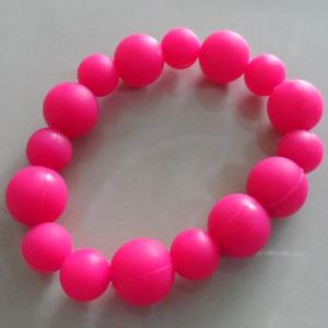 China Glowing Dark Sports Silicone Bracelets Lightweight Round Beads Bracelet / Necklace on sale