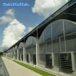 Large Polycarbonate Film Greenhouse / Multi Span Greenhouse Multi Functional