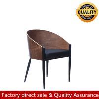 Nordic kstcy chair modern new design metal leg chair wood veneer luxury dining chair for restaurant hotel
