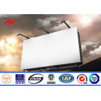 High Bright Steel Outdoor Billboard Advertising Structure Full Color Outside LED Billboard
