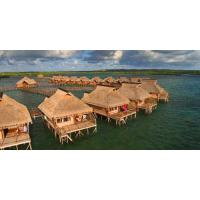 Small Modular Prefabricated Hotel , Overwater Bungalow With Light Steel Frame