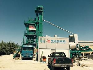 China 310KW Installed Power Mobile Asphalt Plant Road Making Machine 40M3 Hot Bin Section on sale