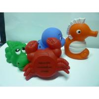 Bath Tub Squirting Water Animal Toys , Solf Plastic Vinyl Sea Life Creatures Toys