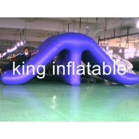 Waterproof Outdoor Inflatable Water Slides , Commercial Water Pool Slide 0.9mm PVC