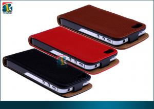 China Red, Pink, Black Foldable Slim Flip Leather Pouch Case For Iphone 5 Protecitve Case on sale