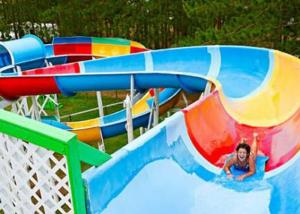 China Family Open Spiral Slide Outdoor Custom Size For Aqua Park Resorts on sale