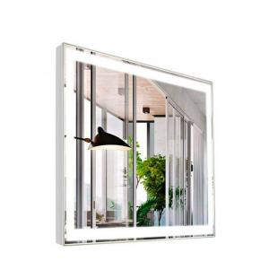 China Modern hotel bathroom advertising mirror display screen with LED lights on sale