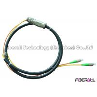 Waterproof Rugged Optical Fiber Pigtail With PE Jacket For Outdoor 2 To 12 Fibers