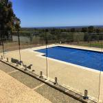 Swimming Pool Tempered glass balustrades with stainless steel spigots