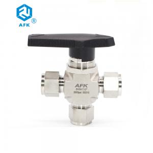 China High Pressure Compression Fitting 1/2 Stainless Steel 3 Way Ball Valve on sale