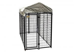 China 8'L X 4'W X 6'H Modular Dog Kennels Heavy Duty Playpen Roof Water Resistant Cover on sale