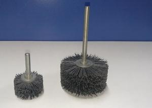 China Silicon Carbide Filament Mounted Nylon Abrasive Wheel Brush With 6mm Shank on sale
