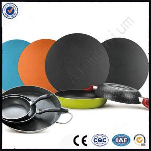 China make utensilios, pots cookware, A1050 1060 1100 on color coated Non-stick aluminum discs circle with best paintcoat on sale
