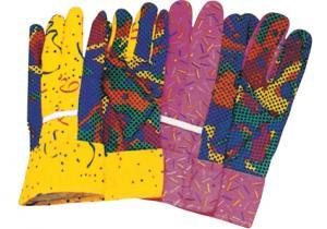 China ポリ塩化ビニールは穿刺の証拠の人の庭の綿の手袋/手袋41005に点を打ちました on sale