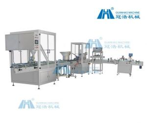 China Semi Auto Bottle Filling Machine , Powder Filling Machine Production Line on sale