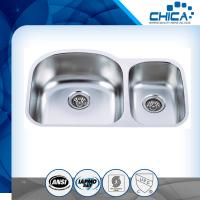 stainless steel sink with undermount sylte for USA market with 18gauge and 16gauge